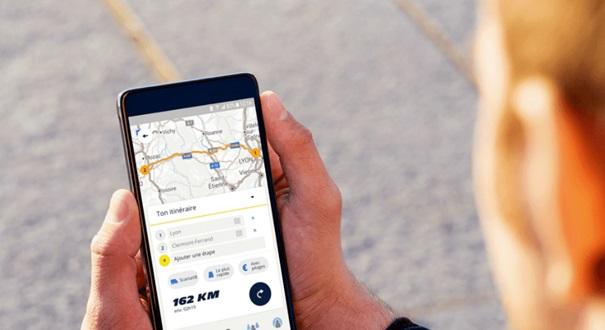 map sur smartphone