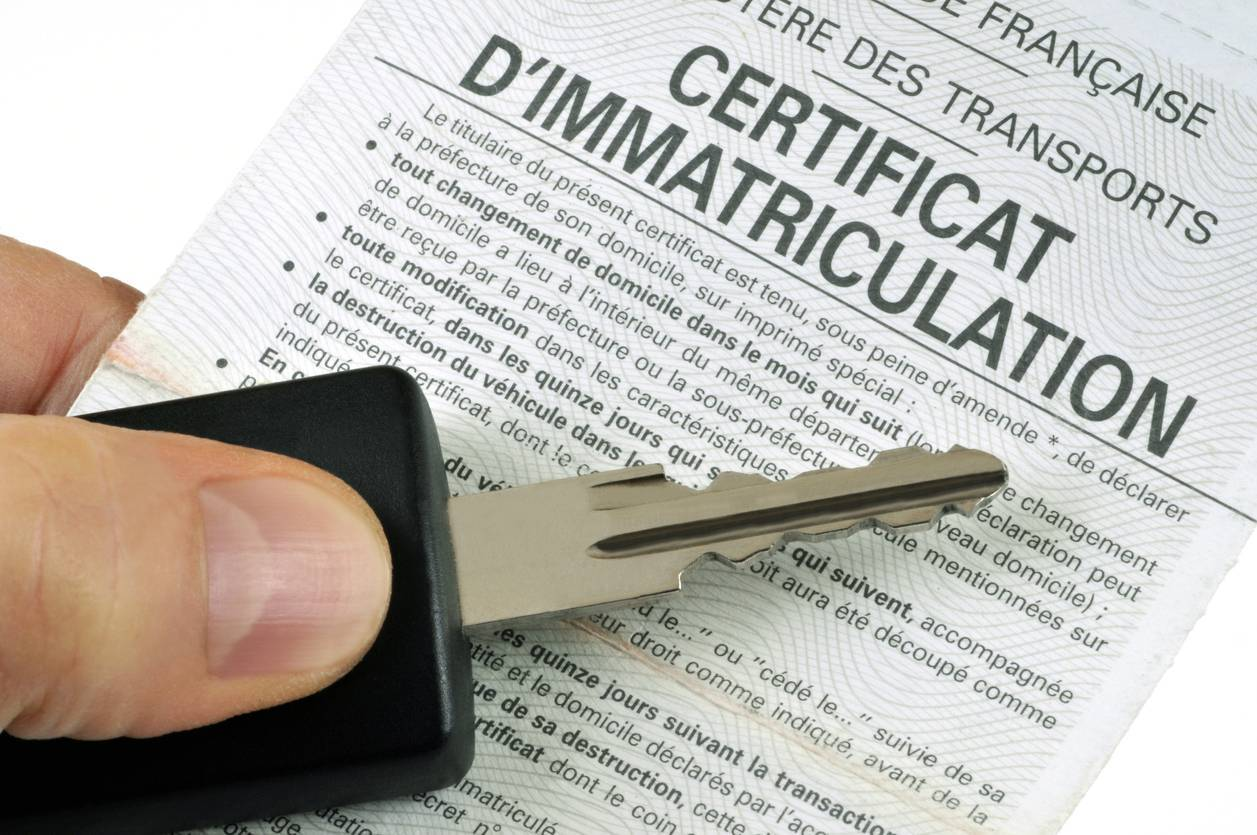 carte grise certificat immatriculation