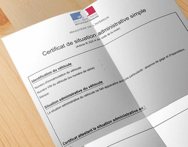 document certificat de non gage